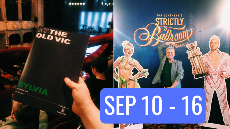 STAGEY ROUNDUP: Sep 10 – Sep 16 (Sylvia, Cilla the Musical, Eugenius!, Misty & Strictly Ballroom's #TheatreLoungeLive)